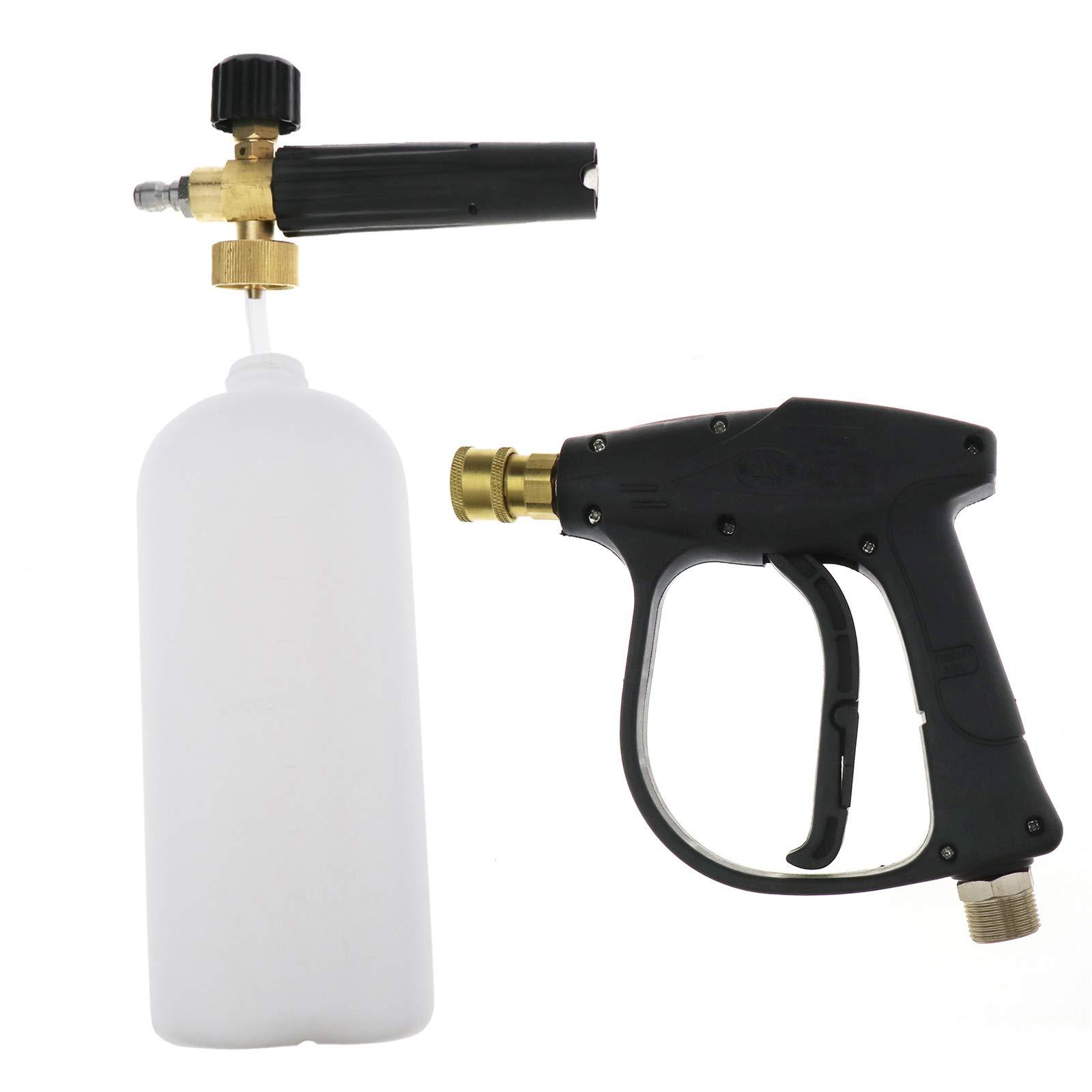 ENET-Schneeschaumkanone-verstellbar-Hochdruckreiniger-Schaumreiniger-1-l-Flasche-Autowsche-Schneeschaum-Lanze-mit-06-cm-Schnellanschluss