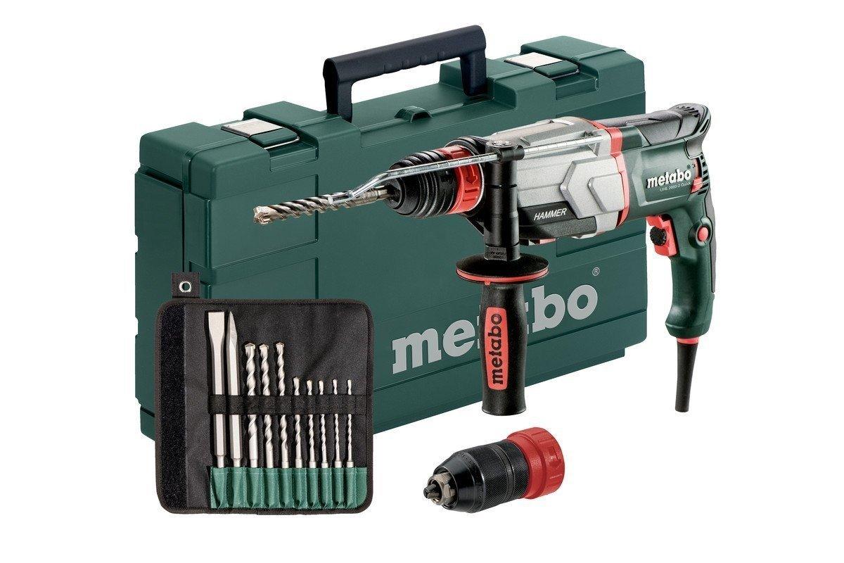 Metabo-Multihammer-UHE-2660-2-Quick-Set-800-W-28-J-Wechselfutter-SDS-Plus-Bohr–Beton-26-mm-Bohrhammer-Made-in-Germany-mit-Koffer-und-Bohrer-Meisselsatz-600697510