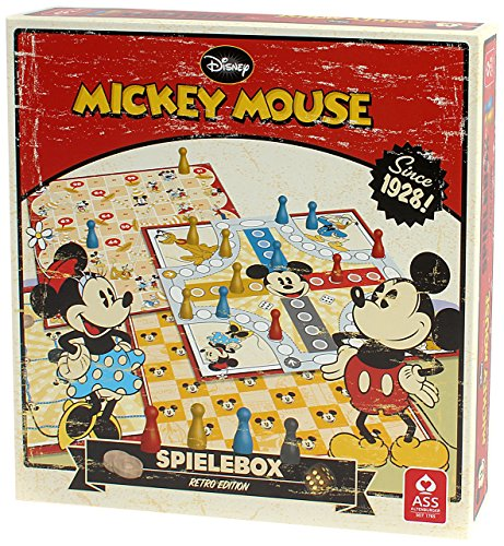 ASS-Altenburger-22500201-Mickey-Mouse-Spielesammlung-Retro-Edition
