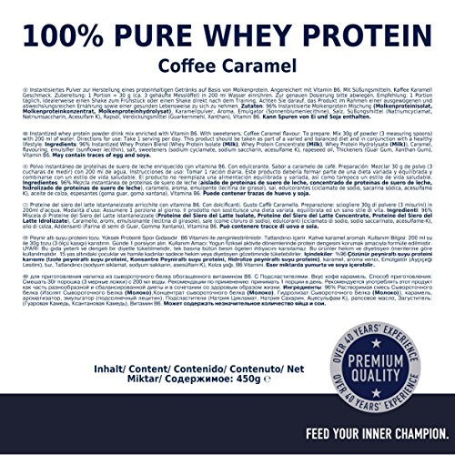 Multipower 100% Pure Whey Protein, Coffee Caramel, 450 g