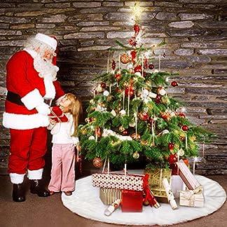 Enjoygoeu-Baumdecke-Weihnachtsbaum-Rock-Rund-Wei-Lange-Plsch-Christbaumdecke-Weihnachtsbaumdecke-Christbaumstnder-Teppich-Decke-Weihnachtsbaum-Deko