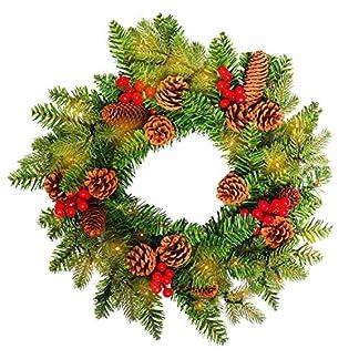 HENGMEI-Weihnachtskranz-Trkranz-Dekokranz-Weihnachtsgirlande-PVC-Tannengirlande-Weihnachtsdeko-Tannenkranz