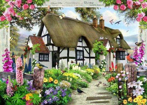 Rosen-Cottage-Puzzle-mit-1000-Teile