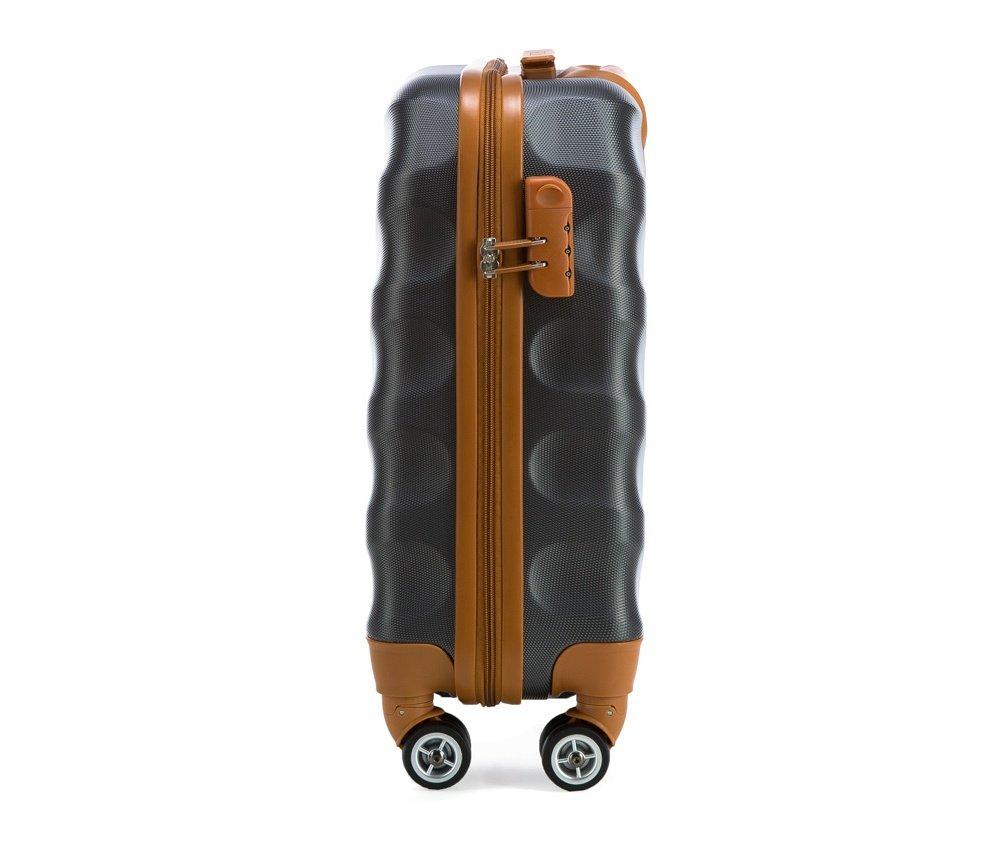 WITTCHEN-Zwillingsrollen-Hardcase-Trolley-Hartschale-Ultraleicht-Reisekoffer-Bordgepck-S-M-in-4-Fraben