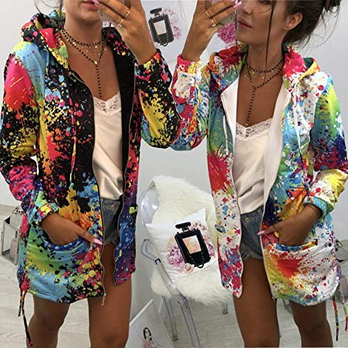 SuperSU-Mode-Persnlichkeit-Damen-Krawatte-frben-Print-Coat-Outwear-Sweatshirt-Kapuzenjacke-Mantel-Funktionsjacke-Windjacke-Wasserdichte-Jacke-bergangsmantel-Parka-Lange-Jacke-mit-Kapuze