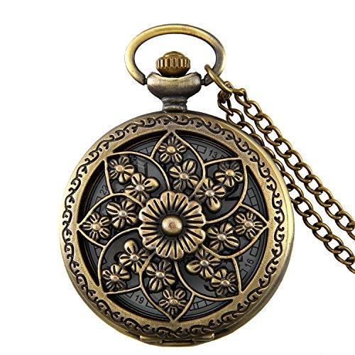 JewelryWe-Retro-Kamelie-Blume-Taschenuhr-Damen-Unisex-Analog-Quarz-Uhr-mit-Halskette-Kette-Pocket-Watch-Geschenk-Bronze