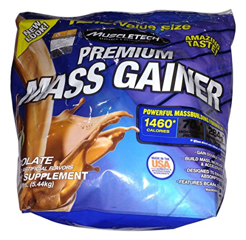 Muscletech 100% Premium Mass Gainer – Chocolate, 1er Pack (1 x 5.44 kg)