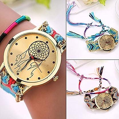 livecity-Damen-Dreamcatcher-Freundschaft-Handgelenk-Uhren-Braid-Kleid-Armband-Uhren