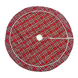 Whiie891203-Weihnachtsdeko-100-cm-Tuch-Plaid-Schneeflocke-Rock-Schrze-Rock-Carpet-Boden-Matte-Weihnachtsbaum-Decke-Deko-Christbaumstnder-Boden-Home-Hotel-Party-Dekorationen-Ornamente
