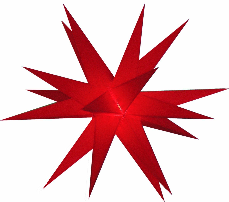 Mit-LED-20-Zack-Auenstern-rot-Outdoorstern-inkl-AuenkabelAuensterne-Leuchtmittel-StaRt-NDL-DUH-E14-35W-104-SMD-Dioden