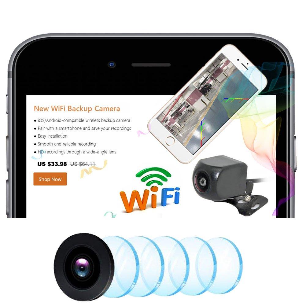 Auto-Wayfeng-WF-WiFi-Rckfahrkamera-Dash-Kamera-HD-Nachtsicht-Auto-Rckfahrkamera-Mini-Krper-Wasserdichte-Tachograph-fr-iPhone-und-Android