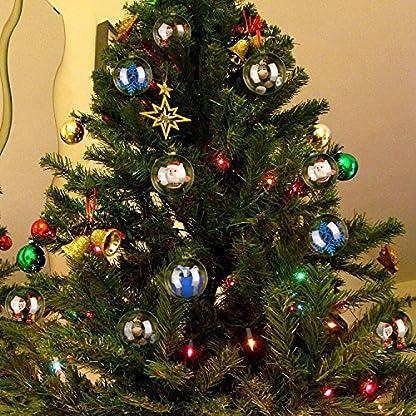Zogin-Weihnachtskugeln-20-stck-transparent-Verzierung-als-Saisonal-Deko-Hochzeitsdeko-hngender-Kugel-80-mm
