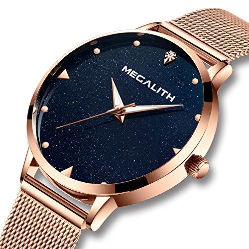 Damen-Uhr-Damenuhren-Wasserdicht-Luxus-Rose-Gold-Edelstahl-Mesh-Armbanduhr-Mode-Klassisch-Dnne-Analog-Quarz-Echtes-Blau-Marmor-Zifferblatt-Uhr-fr-Frauen