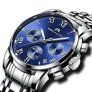 Herren-Edelstahl-Uhren-Mnner-Chronograph-Luxus-Design-Wasserdicht-Datum-Kalender-Armbanduhr-Geschfts-Beilufig-Kleid-Analog-Quarz-Uhr-mit-Rmische-Ziffern-Zifferblatt-Silber-Uhrenarmband