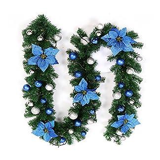 Enjoygoeu-27M-Weihnachtsgirlande-Tannengirlande-Beleuchtung-Knstlich-Weihnachtsdeko-mit-Lichtern-Weihnachten-Girlande-Beleuchtet-Haus-Garten-Auen-Deko-DIY-Dekorationen-fr-Treppen-Wand-Tr