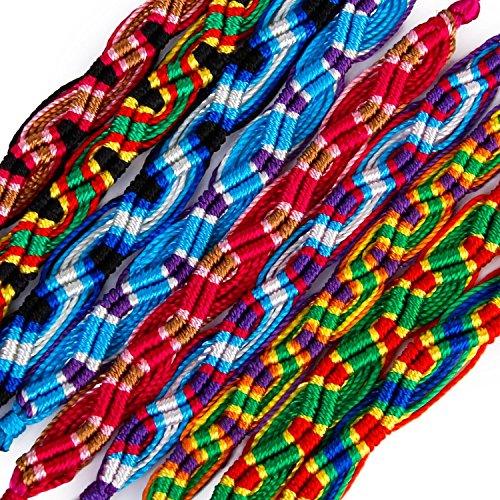 9 Stück Freundschaftsbänder Knöchel Fußkettchen Armband Hippie Boho Schmuck Geschenk zufällige Farbe