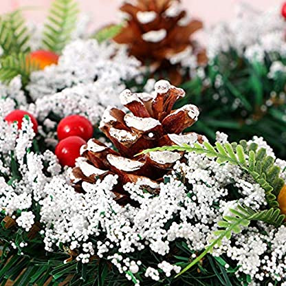MoGist-Weihnachtskranz-Niedlich-Weihnachtsbaum-Hochzeit-Dekoration-Girlande-Tr-Kranz-Adventskranz-fr-Tr-und-Fenster-Weihnachtsbaum