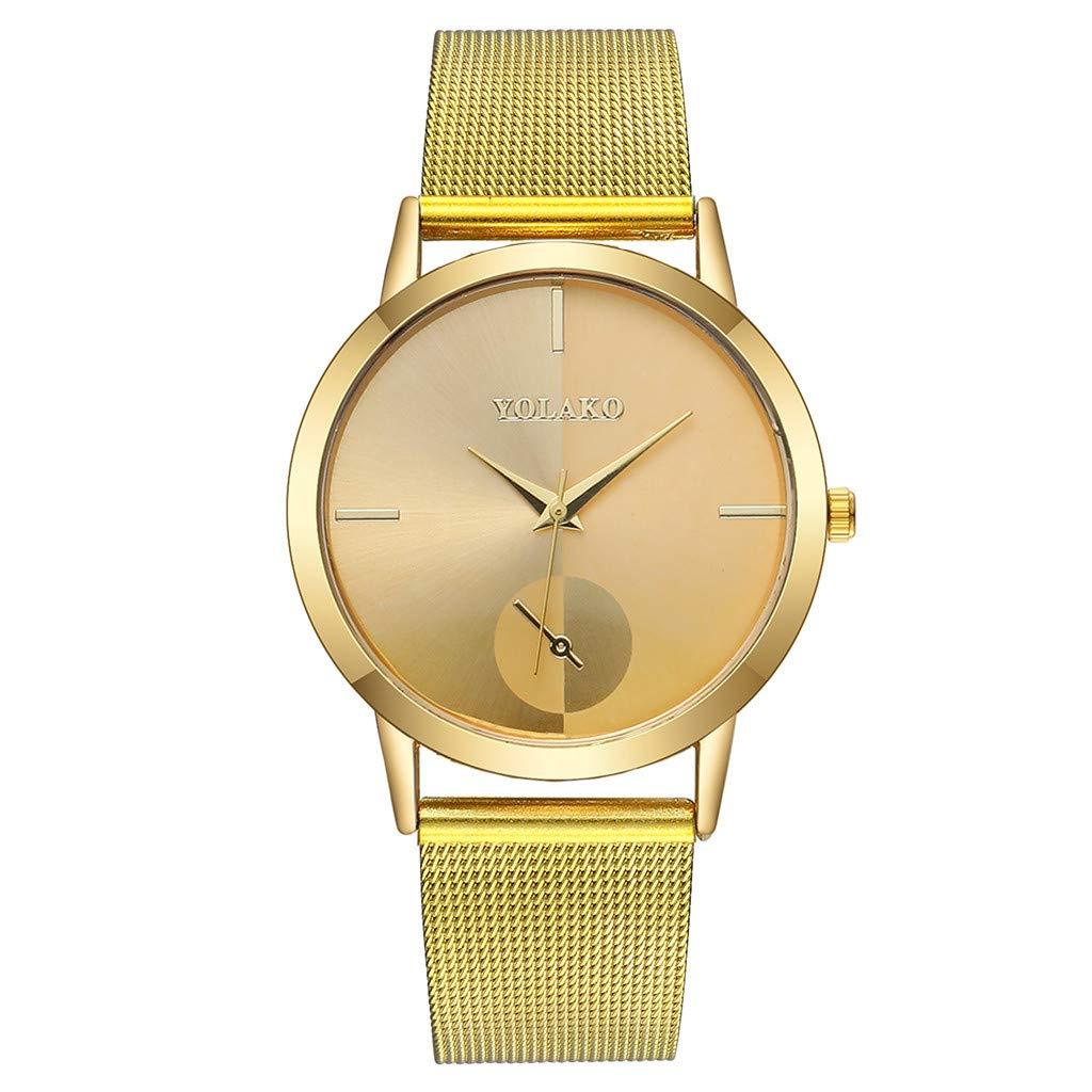 friendGG-Mode-Damen-Casual-Quarz-Kunststoff-Lederarmbanduhr-Analoge-Armbanduhr-Uhren-Ultra-Minimalistisch-Damenuhr-Wasserdicht-Kleid-Armbanduhren-Luxus-BeilUfig-Mesh-Quarzuhr-FR-Frau-MDchen