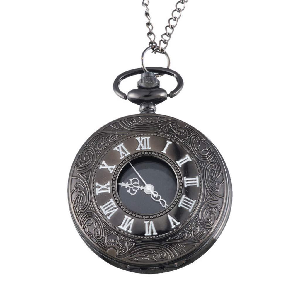 Souarts-Gunmetal-Konstellation-Antik-Nostalgie-Design-Taschenuhr-Klassische-Vintage-Mode-Umhngeuhr-Kettenuhr