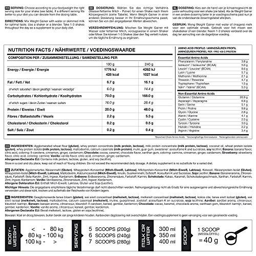 Bodylab24 Weight Gainer Vanille, 4.8 kg