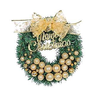 FeiliandaJJ-Weihnachten-Decoration-Kranz-30CM-Weihnachtskugel-Bogen-Herbst-Kranz-fr-Tr-Wand-Party-hngenden-Garland-Ornamente-Weihnachtsschmuck