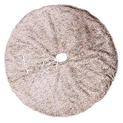 Cosanter-Weihnachtsbaum-Teppich-Baumdecke-Baum-Rock-Khaki-Plsch-Decke-Christbaumstnder-120-cm-Durchmesser