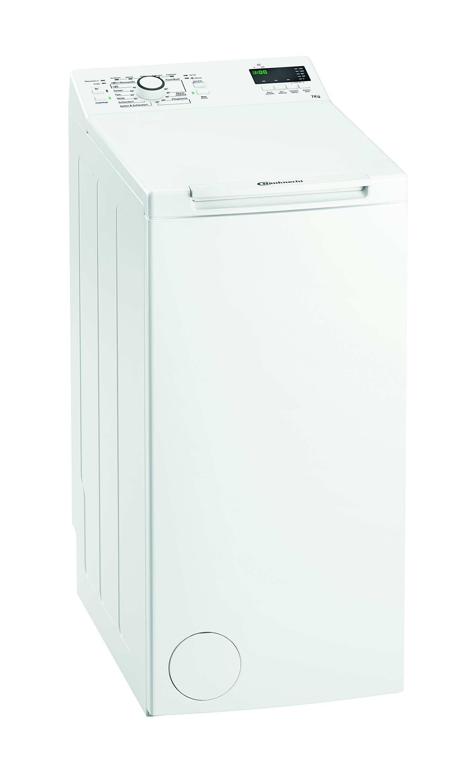 Bauknecht-WMT-EcoStar-722-Di-Waschmaschine-TLA-190-kWhJahr-1200-UpM-7-kgStartzeitvorwahl-und-RestzeitanzeigeFreshFinish-verhindert-zuverlssig-KnitterfaltenKurz-Optionwei