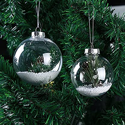 Baoblaze-Weihnachtskugeln-transparent-Verzierung-Baumkugeln-Baumschmuck-DIY-Kunststoff-Kugel