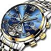Herren-Uhren-Edelstahl-Automatik-Mechanische-Uhr-Herren-Lige-Luxus-Marke-Fashion-Sport-Datum-Blau-Armbanduhr