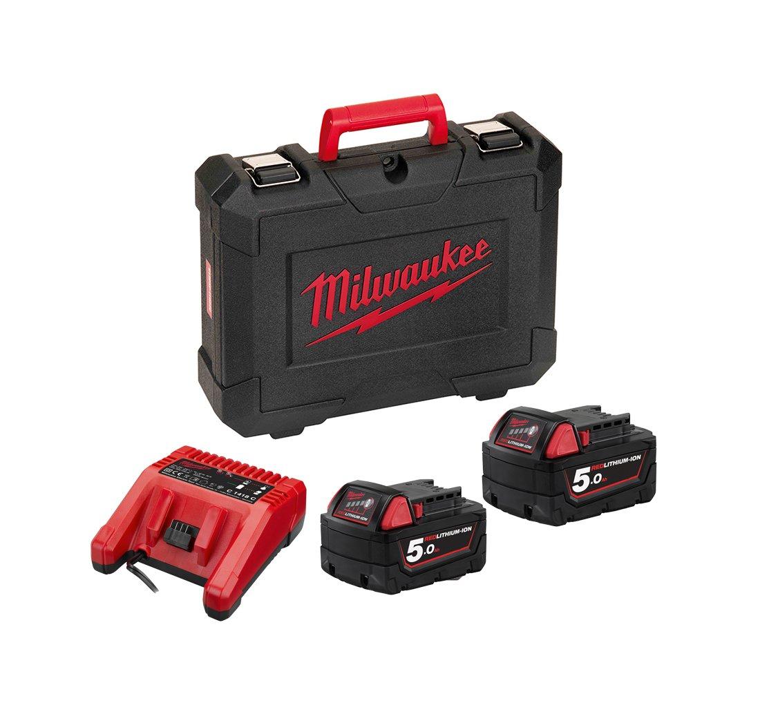 Milwaukee-M18-CHPX-502C-FUEL-Brushless-Akku-Bohrhammer-mit-2-x-5-Ah-Akku-Lader-Koffer