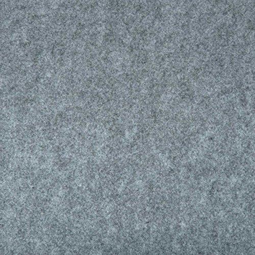 HaGa® Filz Bastelfilz Filzstoff Dekostoff Filzwolle 1,6m Br. (Meterware) in grau