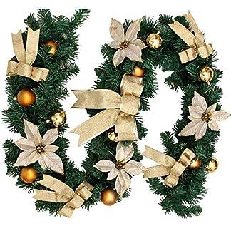 AZX-88ft-27m-Weihnachtsgirlande-Dekorationen-Vorbeleuchteter-knstlicher-Kranz-Weihnachtsbeleuchtung-Weihnachts-Wohnkultur-Fr-Treppen-Kamine-Wandtr