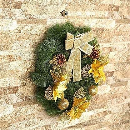 Panamami-40-cm-Durchmesser-Weihnachtskranz-Bogen-Tannennadel-Weihnachtsdekoration-Fr-Home-Party-Outdoor-Baumschmuck-Lieferungen