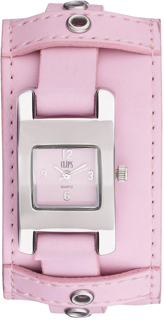 Clips-Damen-Armbanduhr-Analog-Quarz-Leder-553-1008-77