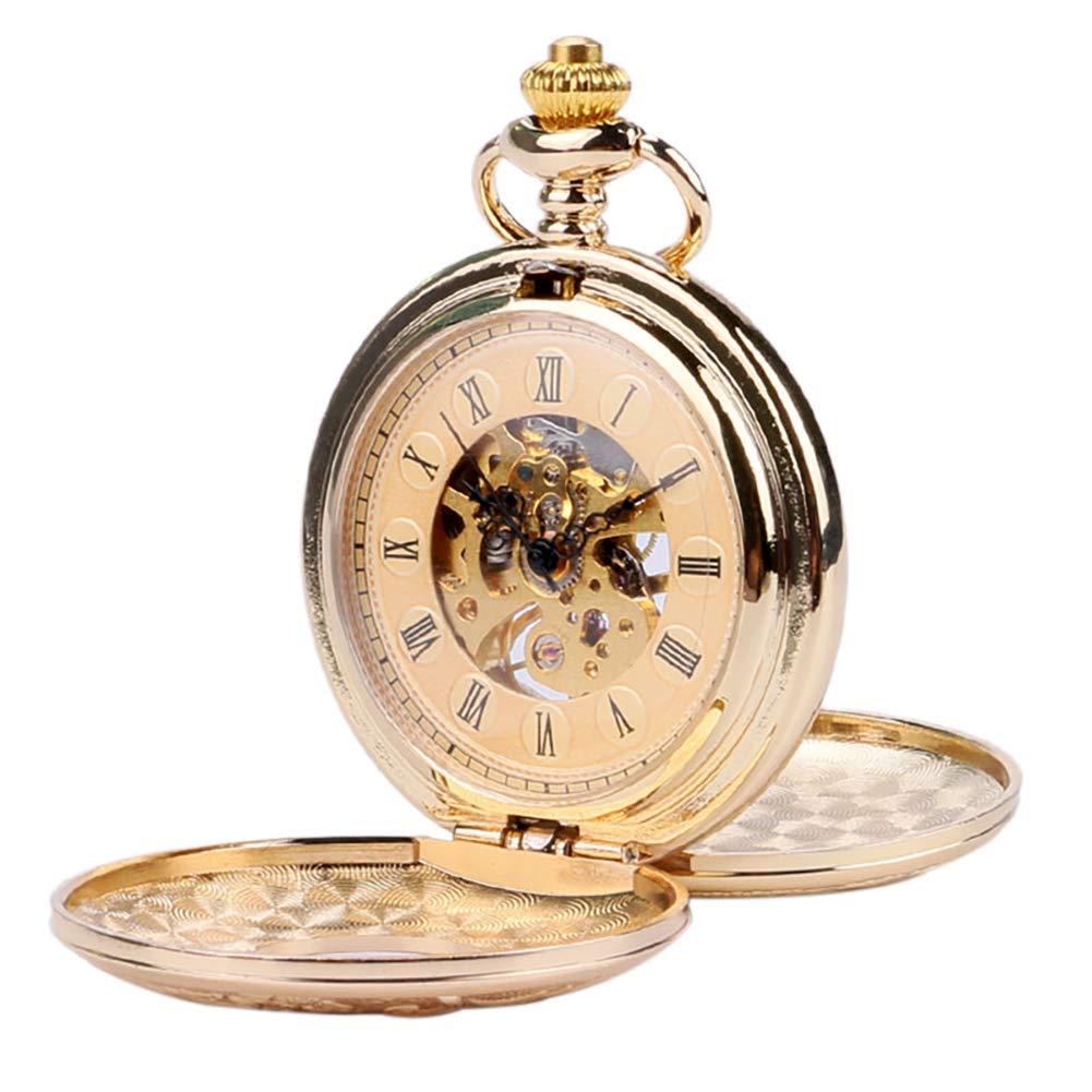 Herren-Taschenuhr-Gold-Taschenuhr-Vintage-Anhnger-antike-Taschenuhren-Geschenk-fr-Mnner
