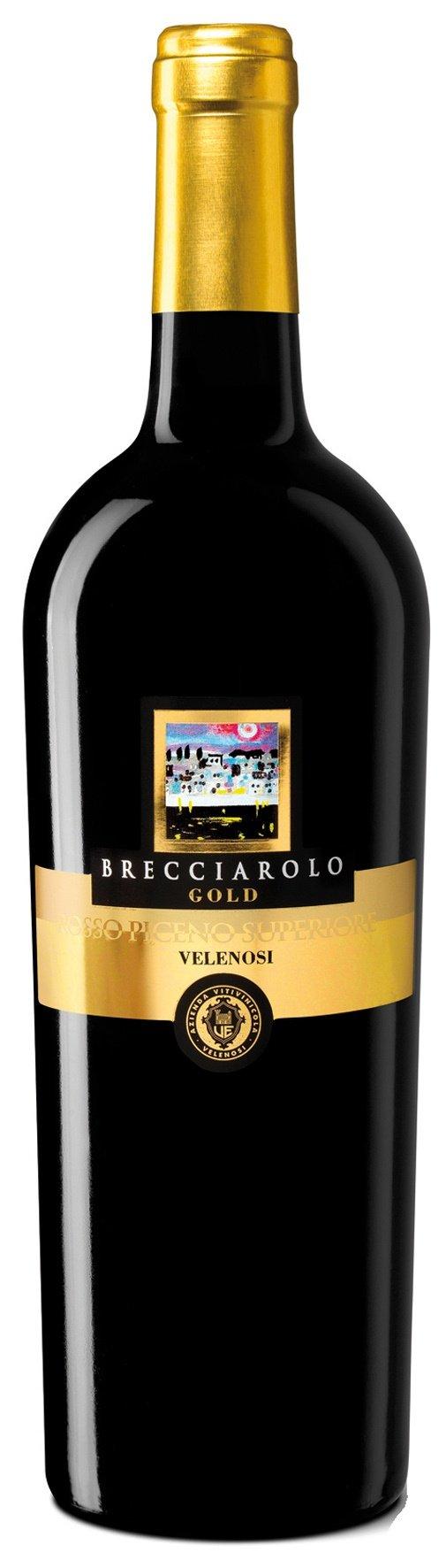 6x-075l-2015er-Velenosi-Brecciarolo-Gold-Rosso-Piceno-Superiore-DOC-Marken-Italien-Rotwein-trocken