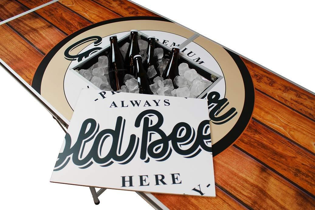 Original-Premium-Beer-Pong-Tisch-Wood-inkl-Eisfach-6-Beer-Pong-Blle-Becherhalterung