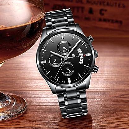 Herren-Uhren-Edelstahl-Schwarz-Mnner-Chronograph-Wasserdicht-Datum-Kalender-Luxus-Design-Gro-Armbanduhr-Sport-Geschfts-Beilufig-Mode-Kleid-Stoppuhr-Analog-Quarz-Uhr-mit-Schwarz-Zifferblatt
