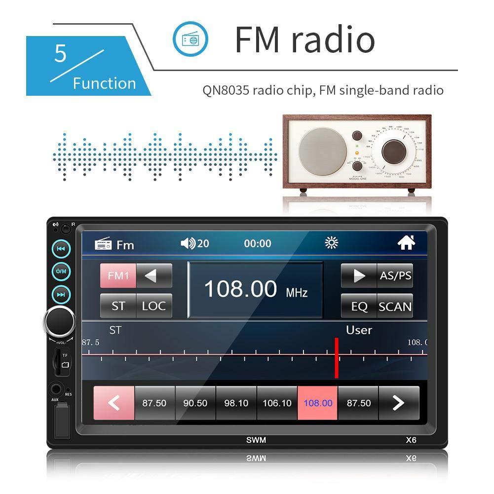 luckything-2-DIN-Autoradio-7-Touchscreen-BildschirmGPS-Navi-Bluetooth-FreisprecheinrichtungAutoradio-Radio-Mit-Navi-Untersttzt-Bluetooth-Android-Auto-USB-Fr-AndroidIOS-Mit-Fernbedienung
