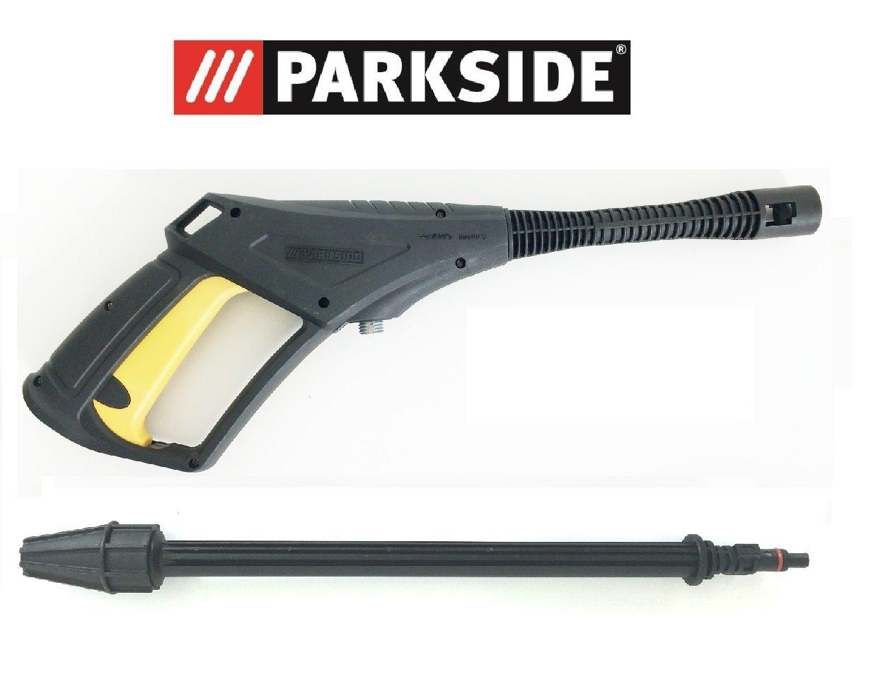 Spritzpistolen-Set-Pistole-und-Hochdruckdse-Parkside-Hochdruckreiniger-PHD-150-A1-B2-C2-D3