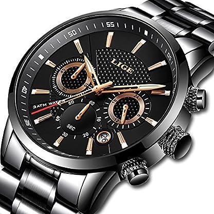 Herren-Uhren-Luxus-Marke-LIGE-Wasserdicht-Edelstahl-Runde-Sport-Chronograph-Analog-Quarzuhr-Mnner-Schwarz-Klassisch-Business-Armbanduhr