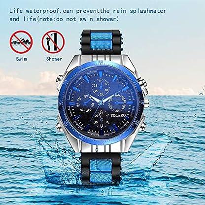 Souarts-Herren-Galliumnitrid-Glas-Silkon-Armband-Uhr-Analog-Quarz-mit-Battterie