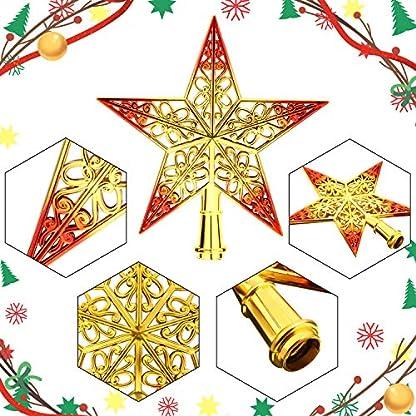 3-Stcke-8-Zoll-Weihnachtsbaum-Topper-Aushhlen-Stern-Wipfel-fr-Christbaumschmuck-Blau-Silber-Gold