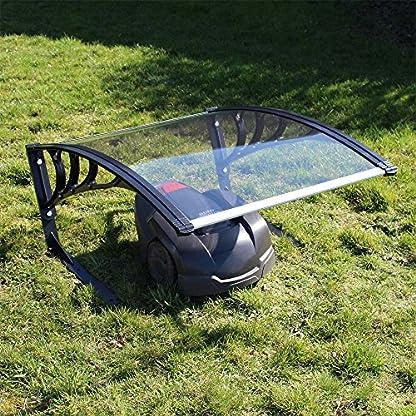 Wiltec-Mhroboter-Garage-Dach-transparent-Carport-fr-Rasenroboter-Automower-Rasenmher