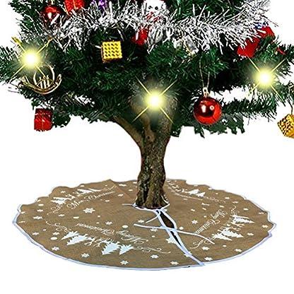 BESTOYARD-Leinen-Weihnachtsbaum-Rock-Weihnachtsbaumdecke-Christbaumdecke-Baumdecke-Christbaumstnder-Decke-fr-Weihnachtsschmuck-Weihnachtsdeko-80-cm