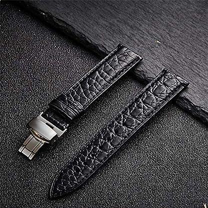 LMSKH-Krokodil-Leder-Uhrenarmband-mit-Faltschliee-12mm-24mm-Schwarz-Braun-Alligator-Ersatzband-Deployment-Poliert-Uhrenarmband-fr-Mnner-Frauen