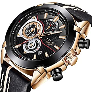 Herren-Uhren-Mode-Lederband-Analog-Quarz-Wasserdicht-Uhr-Lssige-Mnner-Chronograph-Militrische-Sportuhr-LIGE-Gent-Klassisch-Luxus-Datum-Kalender-Schwarzes-Zifferblatt-Armbanduhr-fr-Herren