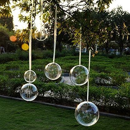 Homyl-10er-Set-Weihnachtskugeln-transparent-Verzierung-DIY-Kunststoff-Kugel-Acryl-Kugel-Christbaumkugel-Bastelkugel-Dekoration