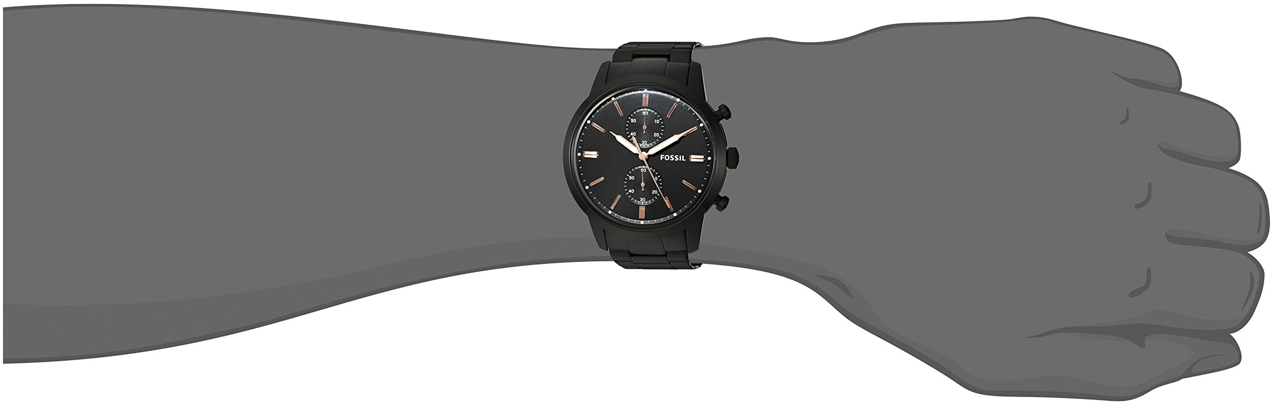Fossil-Herren-Chronograph-Quarz-Uhr-mit-Edelstahl-Armband-FS5379
