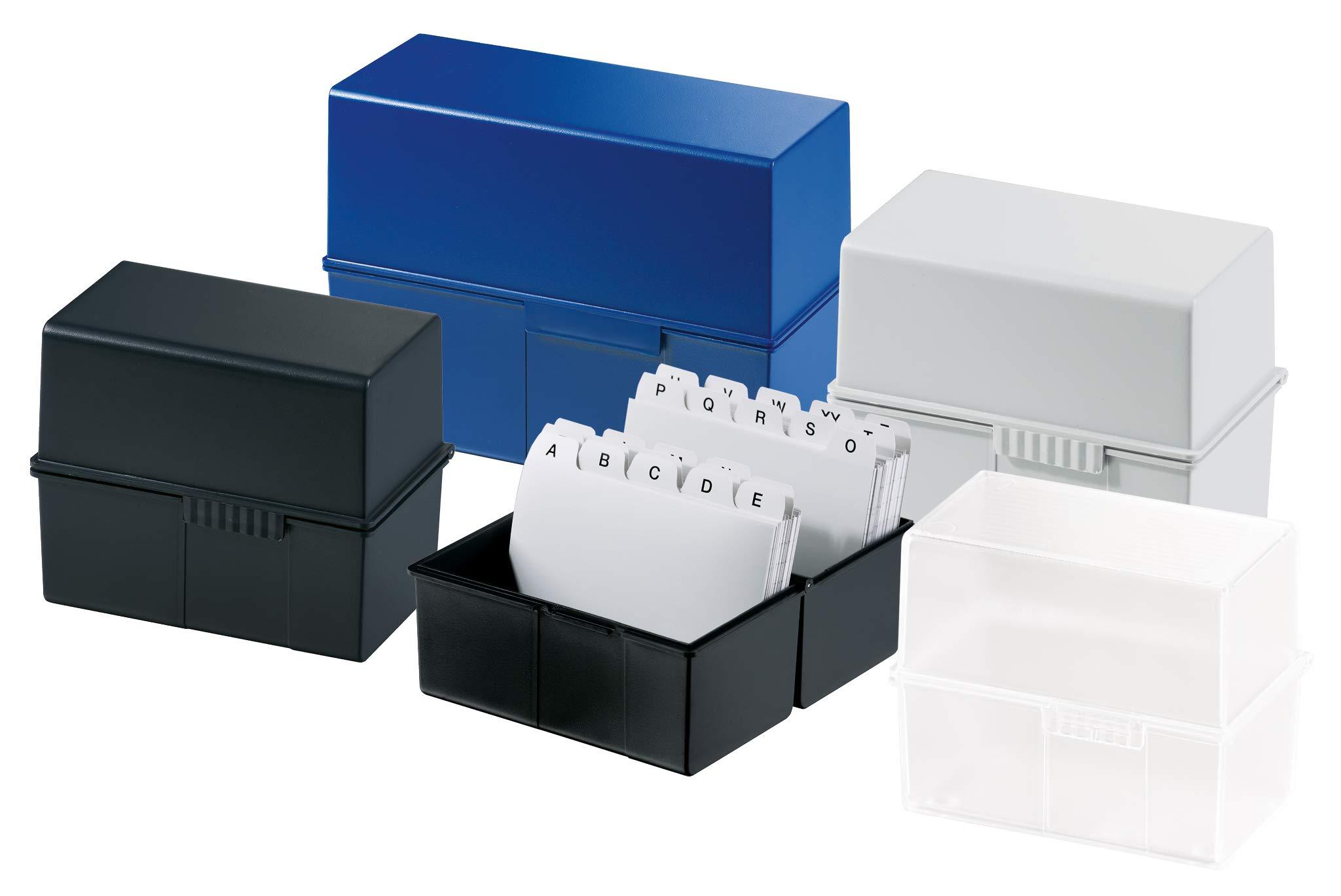 HAN-975-Karteibox-DIN-A5-quer-Innovatives-attraktives-Design-fr-450-Karten-mit-Stahlscharnier